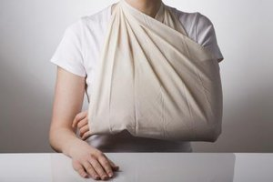A sling is often worn while a humerus fracture heals.