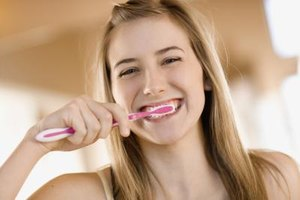 Remembering to brush teeth is important for teens to maintain a healthy, bright smile.