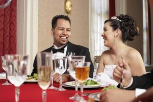The wedding dinner should reflect the wedding style and number of guests.