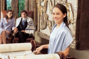 Invitations to the Bat Mitzvah should arrive between four and six weeks beforehand.