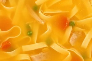 Thickening chicken noodle soup turns the broth into a golden gravy.