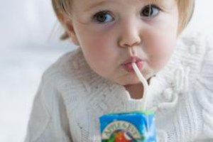 A juice box makes using a small straw especially appealing.