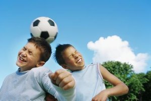 Kids can work on their soccer skills at soccer camp.
