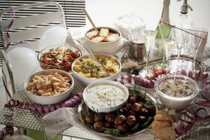 Prepare a buffet for 20 to appeal to guests.