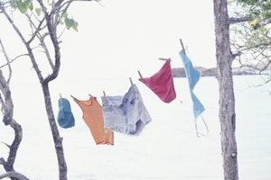 Hang your bras out to dry instead of tossing them in the dryer.