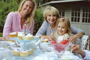 Plan a tea party that helps strengthen the bonds between mother and daughter.