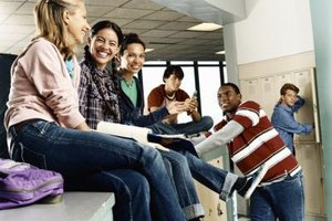 Small group projects help high school students learn the most effective way to communicate.