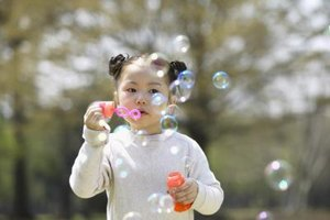 Light and perfect bubbles might thrill your toddler.