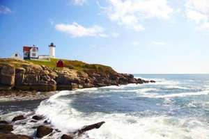 The Nubble lighthouse has been illuminating the Maine coastline near York since 1879.