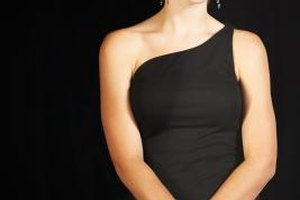 The little black dress is a semiformal classic.