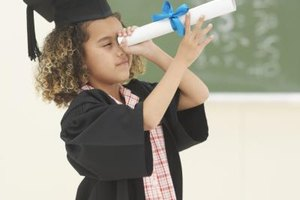 Don't forget to make a little paper graduation hat to match the gown.