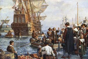 After 66 grueling days at sea, the Mayflower arrived at Plymouth landing.