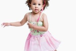 Toddlers will learn about rhythm in dance class.