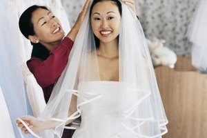 Tulle, netting, lace, chiffon and organza veils are common bridal wear.