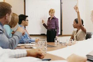 Companies hold training sessions to teach necessary skills documented in a job description.