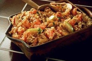 Ground beef and rice make quick, easy casserole dishes.