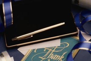 Thank those who offered you support at the funeral with a handwritten note.