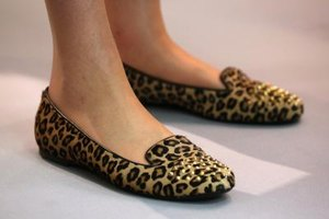 Be bold and mix your leopard-print flats with business attire.