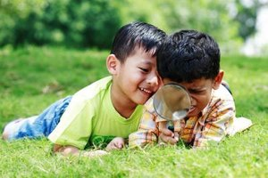 Children learn to build friends through active social engagements.