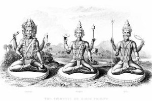 Brahma, Vishnu and Shiva are the Hindu Gods responsible for the world.
