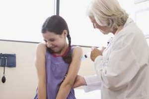 Public health departments help protect the health of the population through immunizations.
