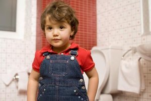 Overalls are not a good choice when potty-training a child.