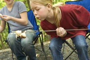 Some kids think s'mores are the best part of camping.
