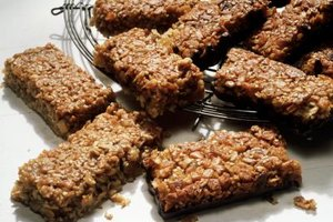 Granola bars sometimes include malt syrup rather than plain sugar.