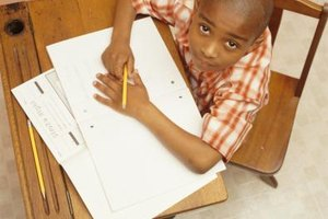 School districts provide materials to help kids improve achievement test scores.
