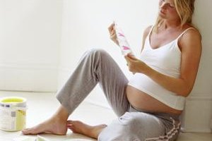 Expectant moms should limit exposure to fresh paint and varnishes.