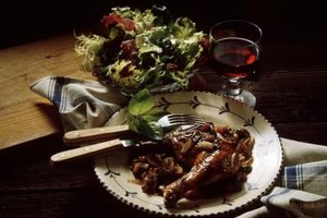 One quarter of the alcohol remains in chicken braised in red wine for an hour.