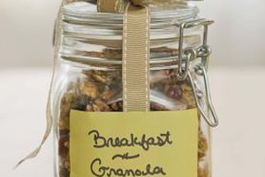 Granola is a high-fiber breakfast option.