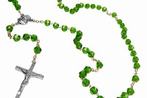 Each bead on a rosary symbolizes a prayer.