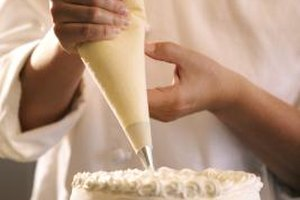 Bakers use a crumb coat to help produce a smooth, even finish on the cake.