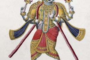 Hindus believe that gods like Vishnu protect them from evil.