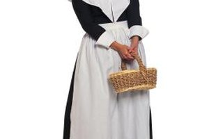 Puritans wore plain black and white clothes.