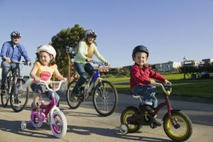Go for family bike rides to get your kiddo familiar with bicycle safety.