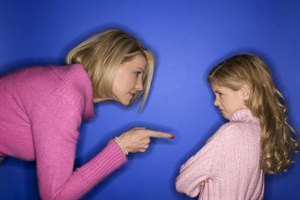 Avoid reacting to your child when they are having an angry outburst.