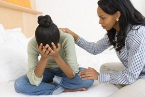 Simply being there for a crying teen can help.