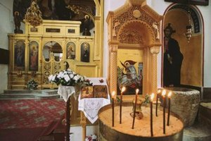 First Communion in a Greek Orthodox church calls for slightly different rites and customs