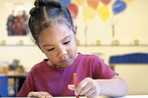 Your child can choose to focus on her artistic side in a Montessori kindergarten class.
