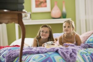 Children might watch inappropriate TV shows when home alone.