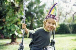 Make a simple Indian headdress to complete your child's costume.