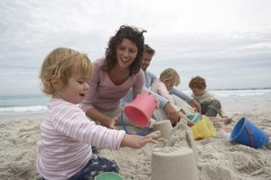 The beach is the ultimate sandbox for your child.