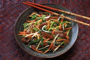 Blanching helps make stir-fries such quick-cooking dishes.