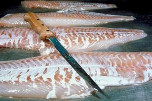 Skinless cod fillets absorb more flavor when smoked.