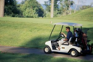 Golf carts are used extensively on golf courses and must be charged regularly.