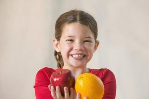 An apple a day keeps the doctor away and an orange a day keeps a cold at bay.