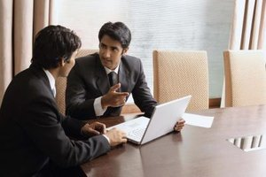 Senior sales executives build relationships with major clients.