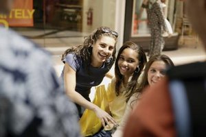 Unsupervised girls must be old enough to behave responsibly at the mall.